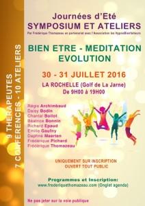 Méditation, bien-être, Symposium, Ateliers La Rochelle