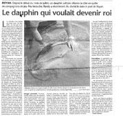 """Article dans le journal """"La région - Charente Maritime """""""